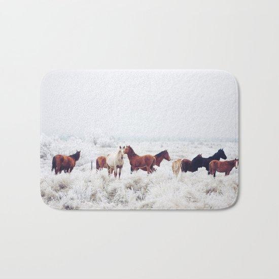 Winter Horseland Bath Mat
