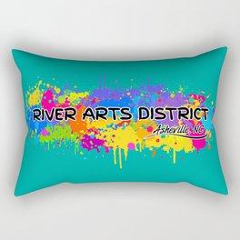 River Arts District - Asheville - AVL 17 Green Rectangular Pillow