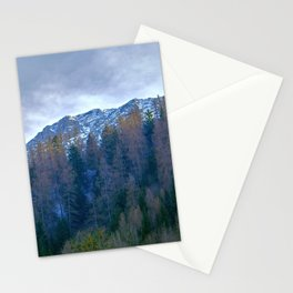 snow and mountain landscape in winter Stationery Cards