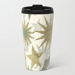 xmas golden stars retro vectors pattern Travel Mug