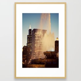 Buckingham Fountain  Framed Art Print