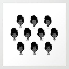 Secretary-facial expressions Art Print