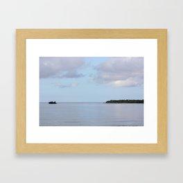 Treasure Island Photo Framed Art Print