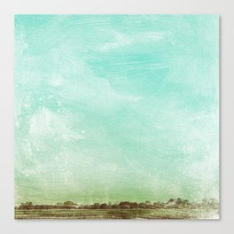 Washed Out Field Canvas Print