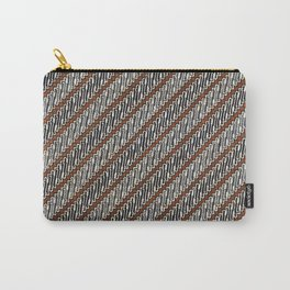 Parang Suluran Sogan Traditional Indonesian Batik Pattern Carry-All Pouch