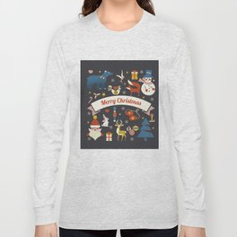 Christmas symbols pattern Long Sleeve T-shirt