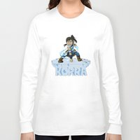 legend of korra Long Sleeve T-shirts featuring Korra by HelloTwinsies