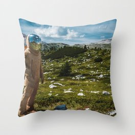 The Spaceman (Color) Throw Pillow