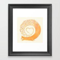 FALL FOX Framed Art Print