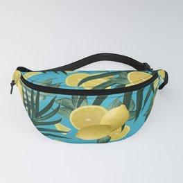 Summer Lemon Twist Jungle #4 #tropical #decor #art #society6 Fanny Pack