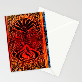 Red Fans and Faces Stationery Cards