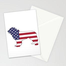 "Newfoundland Dog ""American Flag"" Stationery Cards"