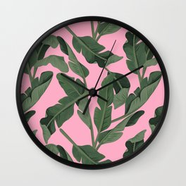 Tropical '17 - Forest [Banana Leaves] Wall Clock