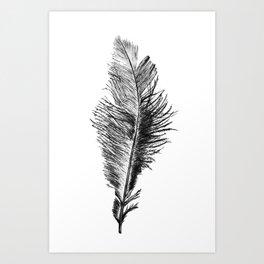 Free Falling Negative Art Print