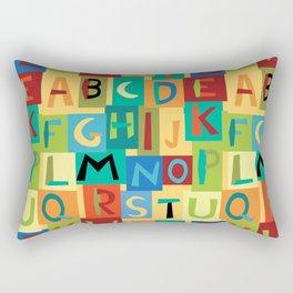 Papercut Alphabet Rectangular Pillow