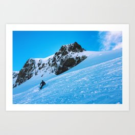 Skier  Art Print