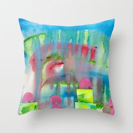 4 Penny the Pink Elephant Throw Pillow