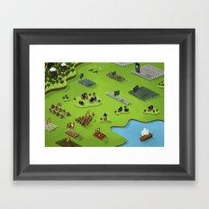 La plus grande toute petite bataille du monde Framed Art Print