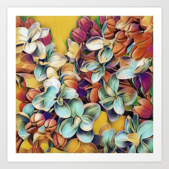Painted Lilacs Art Print