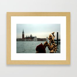 Gondola At Sea Framed Art Print