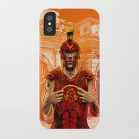 gladiator iPhone & iPod Cases featuring German Gladiator Podolski by Akyanyme