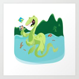 Year of the Loch Ness Monster Art Print