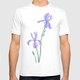 elegant purple iris T-shirt