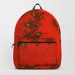 Red fractal. Abstract pattern Backpack