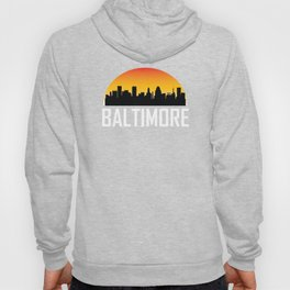 Sunset Skyline of Baltimore MD Hoody