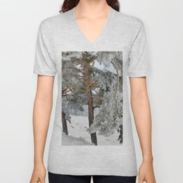 """""""Ghost Forest II"""". Yesterday after the snowstorm Unisex V-Neck"""