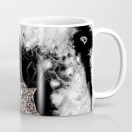 Gray Black White Agate Glitter Glamor #5 #gem #decor #art #society6 Coffee Mug