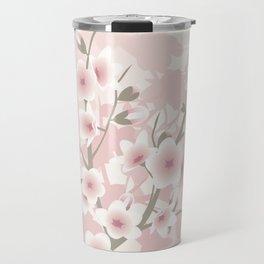 Vintage Floral Cherry Blossom Travel Mug