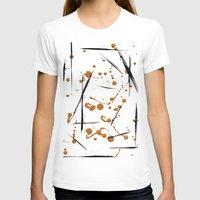 black and gold T-shirts featuring black & gold by Jecca All