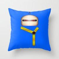 cyclops Throw Pillows featuring Cyclops by Oblivion Creative