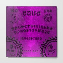 Vintage Purple Ouija Oracle Board Metal Print