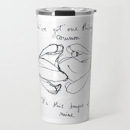 "Artwork inspired by the lyrics of The 1975's ""Sex"" Travel Mug"