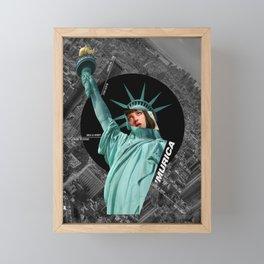 America is a black hole Framed Mini Art Print