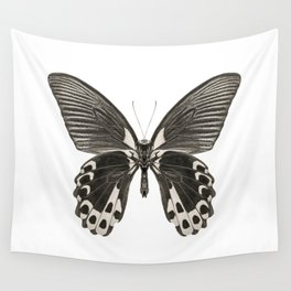 Mono Scarlet Mormon Butterfly Wall Tapestry