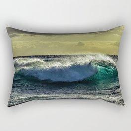 Wave Series Photograph No. 9 - Sunset on the Water Rectangular Pillow