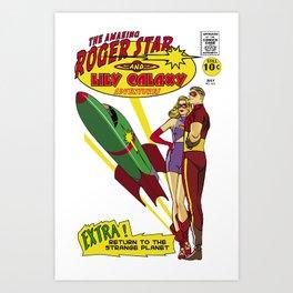 Roger & Lily adventures Art Print
