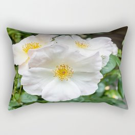 Camellia Bloom Flower Rectangular Pillow