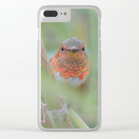 An Allen's Hummingbird Amid Mexican Sage Clear iPhone Case