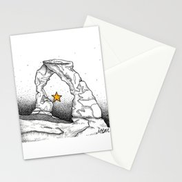 Delicate Arch (B&W) Stationery Cards