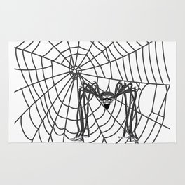 web with spider, spideypool, hegre prints illustration is inspired ... Home Decor Graphicdesign Rug