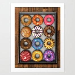 Box of Doughnuts Art Print