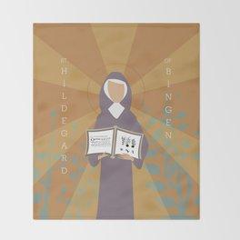 St. Hildegard of Bingen Throw Blanket