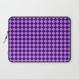Lavender Violet and Indigo Violet Checkerboard Laptop Sleeve