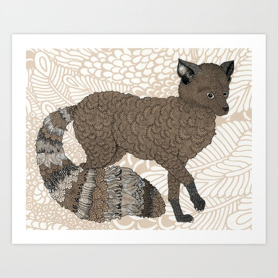 Brown Fox Art Print