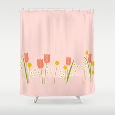 Pale Pink Light Orange Spring Flowers Shower CurtainLuminosity Shower Curtains   Society6. Pale Pink Shower Curtain. Home Design Ideas