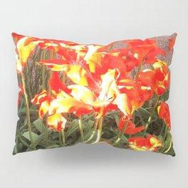 Orange Flowers Pillow Sham